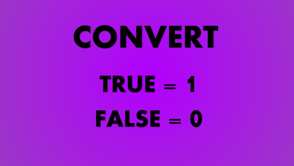 Convert FALSE and TRUE into numbers Cover