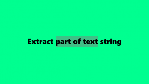 Extract part of text string Cover