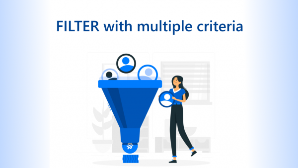 FILTER with multiple criteria Cover